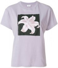 Marcelo Burlon County Of Milan - T-shirt con fiore stampato - women - Cotton - M, S - PINK & PURPLE