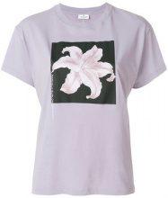 Marcelo Burlon County Of Milan - T-shirt con fiore stampato - women - Cotone - M - PINK & PURPLE