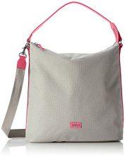 Bree 331005, Borsa a Spalla Donna, Multicolore (Mehrfarbig (Light Grey/Pink)), Taglia Unica