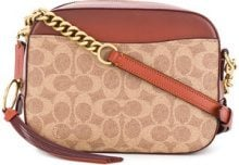 Coach - Borsa a tracolla con logo - women - PVC/Polyester/Calf Leather - One Size - BROWN