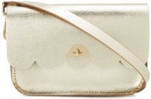 The Cambridge Satchel Company - scallop detail crossbody bag - women - Leather - OS - METALLIC