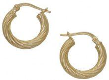 H. Gaventa Ltd - Orecchini a cerchio da donna, oro giallo 9k (375), cod. E-10198