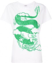 P.A.R.O.S.H. - T-shirt con stampa - women - Cotone/PVC - S, M, L - WHITE