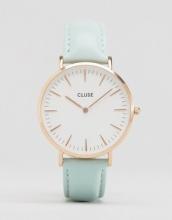 Cluse - La Bohème CL18021 - Orologio rosa oro con cinturino in pelle menta