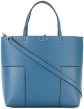 Tory Burch - Block-T mini tote - women - Leather - One Size - BLUE