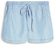 ESPRIT 057ee1c001, Shorts Donna, Blu (Blue Light Wash), 38