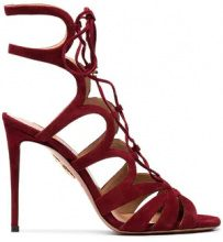 Aquazzura - Sandali 'Love Affair 105' - women - Leather/Suede - 36.5, 39.5, 40, 40.5, 41 - RED