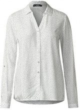 Cecil 340742 Mathea, Blusa Donna, Weiß (Pure Off White 20125), XS