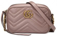 Gucci - Mini borsa 'GG Marmont' - women - Calf Leather - One Size - PINK & PURPLE