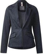 Street One Pin Stripe Stretch, Blazer Donna, Blau (Night Blue 20109), 48 (Taglia produttore: 42)