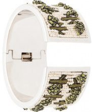 Mignonne Gavigan - embellished band bracelet - women - Acetate - OS - WHITE