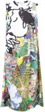 Comme Des Garçons - cartoon cityscape printed dress - women - Polyester - M - MULTICOLOUR