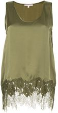 Gold Hawk - Blusa con inserti in pizzo - women - Silk/Nylon - S, M, L - GREEN