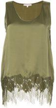 Gold Hawk - Blusa con inserti in pizzo - women - Silk/Nylon - S, M, L - Verde