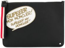 Moncler - Borsa Clutch 'Comic' - women - Polyamide/Calf Leather - One Size - Nero