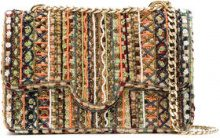 Isla - embroidered tweed maxi bag - women - Polyester/Vegetable Fibres/Glass Fiber - OS - NUDE & NEUTRALS