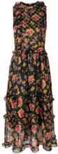 Dodo Bar Or - Vestito a fiori con design increspato 'Simmone' - women - Polyester - 42, 44, 40 - BLACK