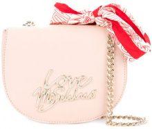 Love Moschino - Borsa a tracolla con dettaglio bandana - women - PVC - OS - PINK & PURPLE