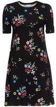 FIND T-Shirt Vestito Donna, Multicolore (Black Mix), 40 (Taglia Produttore: X-Small)