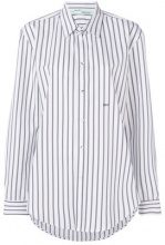 Off-White - Camicia a righe - women - Cotton - 40 - WHITE