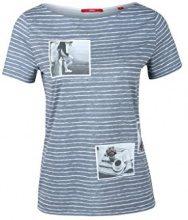 s.Oliver 14.608.32.6394, T-Shirt Donna, Blau-59d3, 42