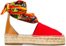 Dsquared2 - scarf tie espadrilles - women - Canvas/rubber - 36, 38, 39, 40 - RED
