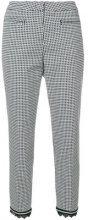 Cambio - Pantaloni con orlo a frange - women - Cotone/Polyamide/Spandex/Elastane - 36, 38, 44 - Nero