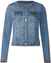 Street One 210698, Giacca in Jeans Donna, Blu (Fancy Moon Wash 11383), 46