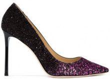 Jimmy Choo - scarpe con décolleté glitter 'Romy' - women - Leather/Sequin - 39, 41, 37, 39.5, 36, 37.5, 40.5 - BLACK