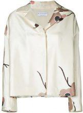 A.N.G.E.L.O. Vintage Cult - floral print jacket - women - Silk/Wool - 42 - NUDE & NEUTRALS
