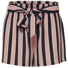 ONLY Striped Shorts Women Pink