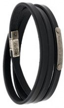 Saint Laurent - multi-wrap ID bracelet - women - Leather - S, M, L - BLACK