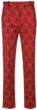 - Reinaldo Lourenço - printed trousers - women - Cotone/Spandex/Elastane - 36, 42, 44, 46 - Rosso