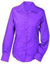 James & Nicholson Ladies' Promotion, Camicia Donna, Rosa (Purple), 40 (Taglia Produttore: XL)