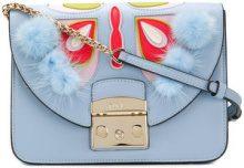 Furla - Papillon Metropolis bag - women - Leather/Rabbit Fur - OS - BLUE