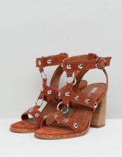 ASOS DESIGN - Tiffany - Sandali con tacco scamosciati - Cuoio