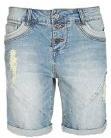 Jeans con taglio boyfriend firmati Fresh Made | Bermuda | Pantaloncini di jeans da donna effetto used