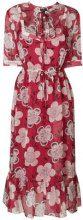 Emporio Armani - Abito con stampa a fiori - women - Silk/Polyester - 42 - RED