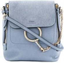 Chloé - small Faye backpack - women - Calf Leather - One Size - Blu