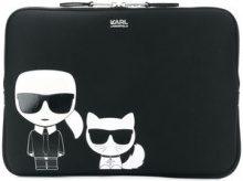 Karl Lagerfeld - Ikonik laptop bag - women - Neoprene - One Size - Nero