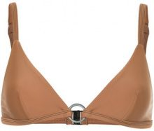 Matteau - sThe Ring bikini top - women - Nylon/Spandex/Elastane - 14 - BROWN