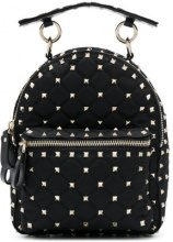 Valentino - studded mini backpack - women - Leather/Polyester/metal - One Size - Nero