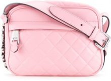 Moschino - quilted shoulder bag - women - Sheep Skin/Shearling - OS - PINK & PURPLE