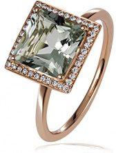 goldmaid FINERING - Anello, con Ametista Diamante, Oro rosso, misura 58 (18.5)