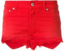Dondup - Shorts denim - women - Cotton/Spandex/Elastane - 28 - RED