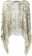 Alberta Ferretti - Blusa con motivo stampato con effetto trasparente - women - Silk - 42 - Bianco