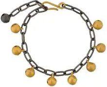 Eye M By Ileana Makri - Braccialetto 'Jingle Bell' con catena - women - Bronze - OS - YELLOW & ORANGE