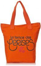 Le Temps des Cerises Borsa tote, Donna, Arancione (Orange), Taglia unica