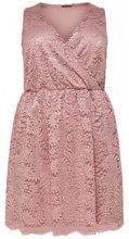 ONLY Curvy Lace Sleeveless Dress Women Pink