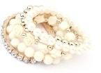Fashion fiore perla perline per bracciale catena braccialetto bracciale rigido da donna gioielli